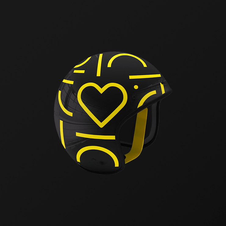 Jelbi Merchandising Helm