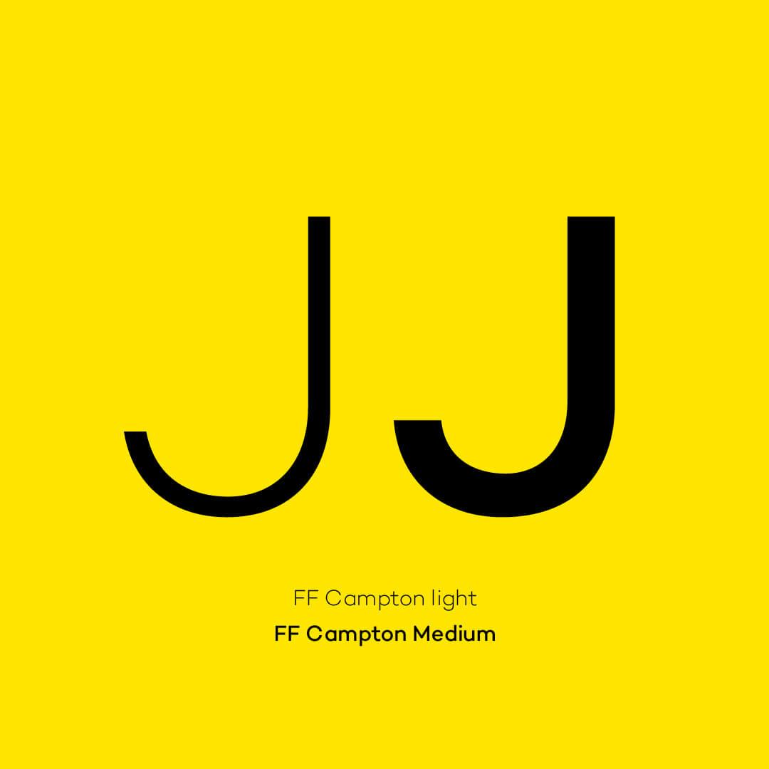 Jelbi Schrift FF Campton