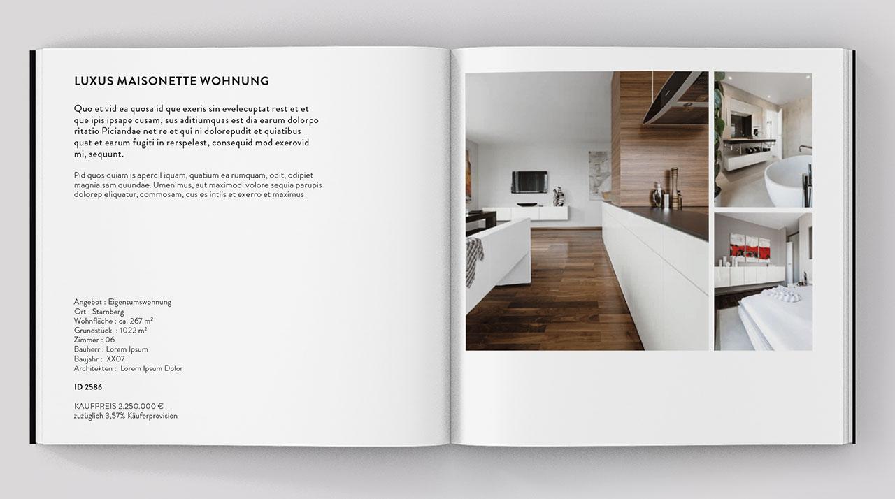 Quartier Acht Booklet offen Innenseiten