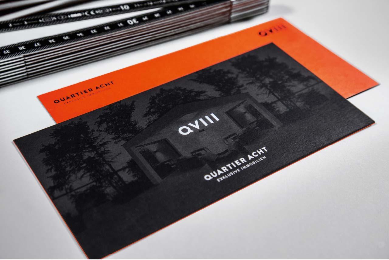 Quartier Acht Geschäftsausstattung Karten