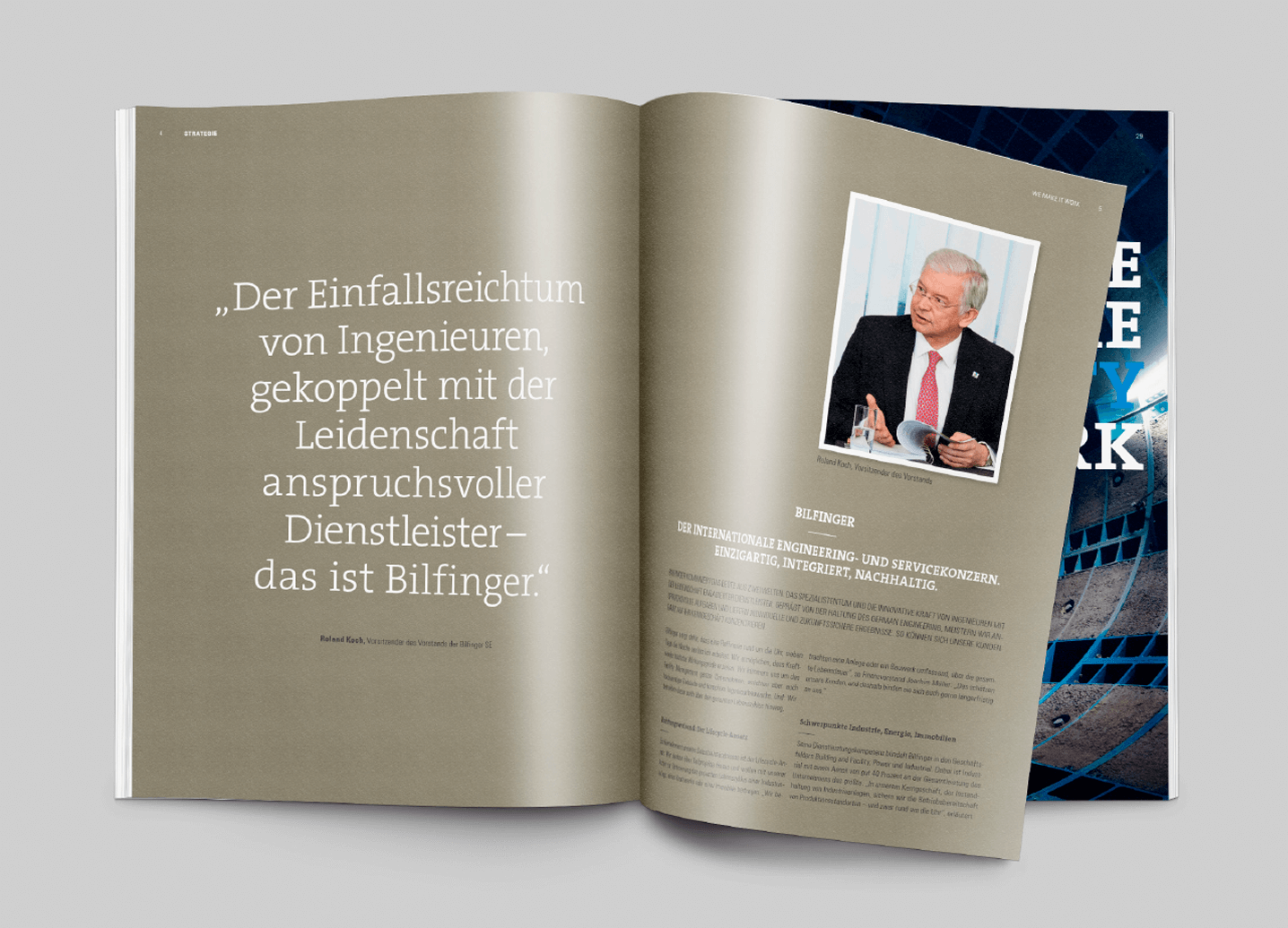 Bilfinger Geschäftsbericht Innenseite