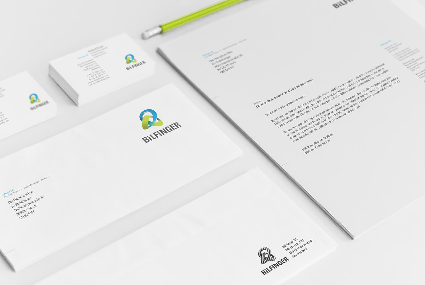 Bilfinger Design Geschaeftsausstattung