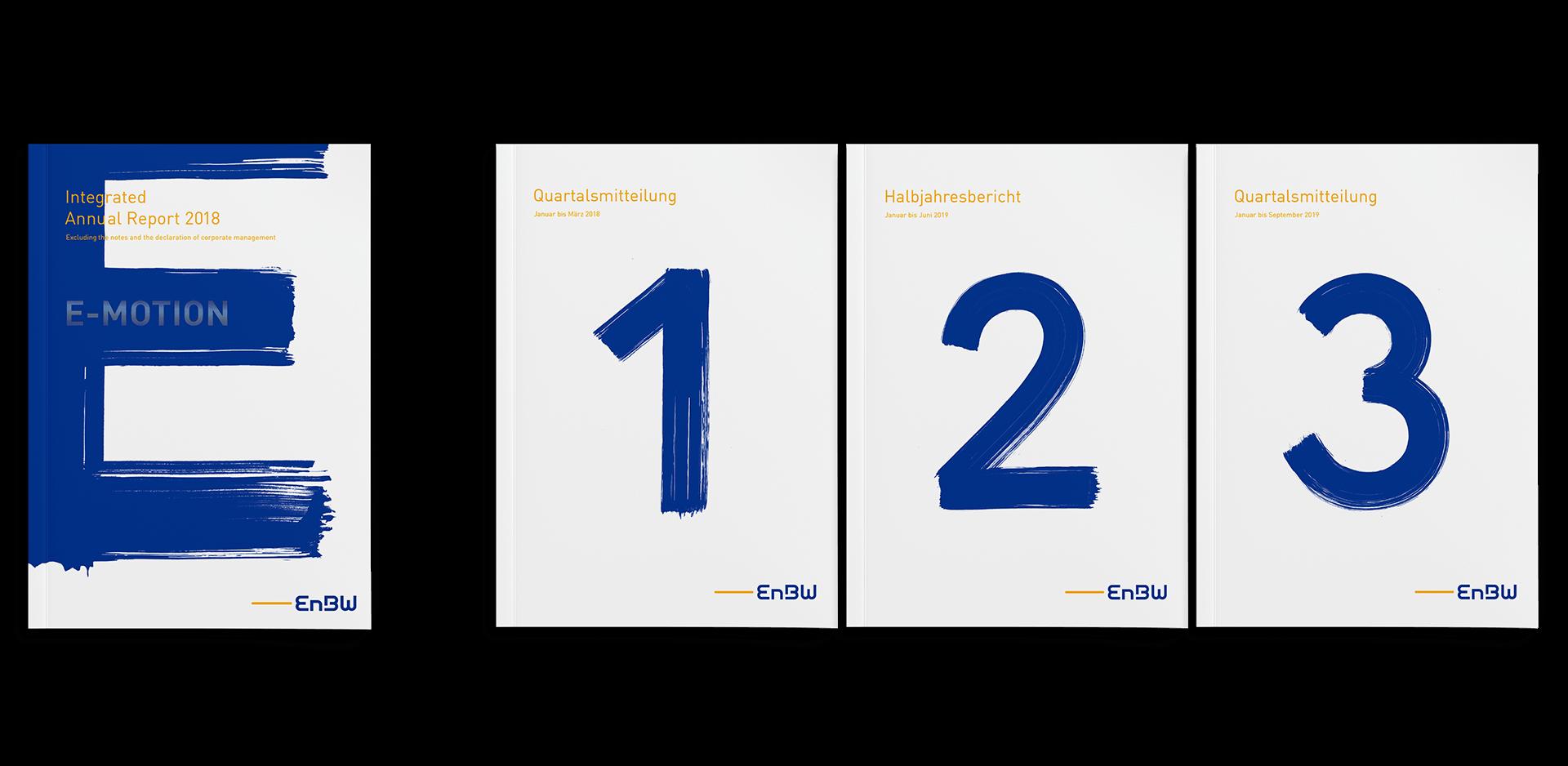 EnBW Geschaeftsbericht 2018 alle Cover
