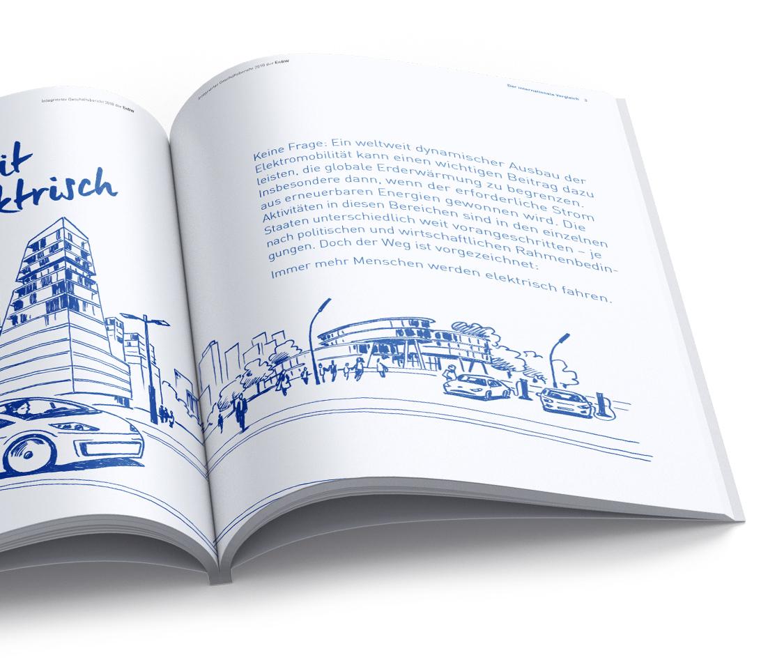 EnBW Geschäftsbericht Illustration