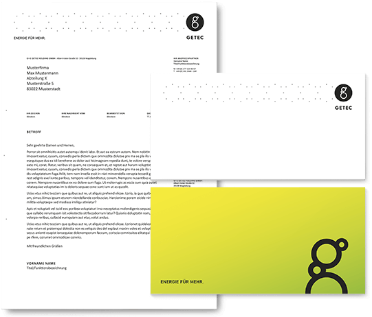 GETEC Media: Compliment Cards, Letterhead