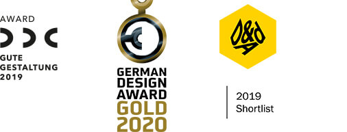 Jelbi Awards DDC Gute Gestaltung 2019, German Design Award Gold 2020, German Design Award Special 2019