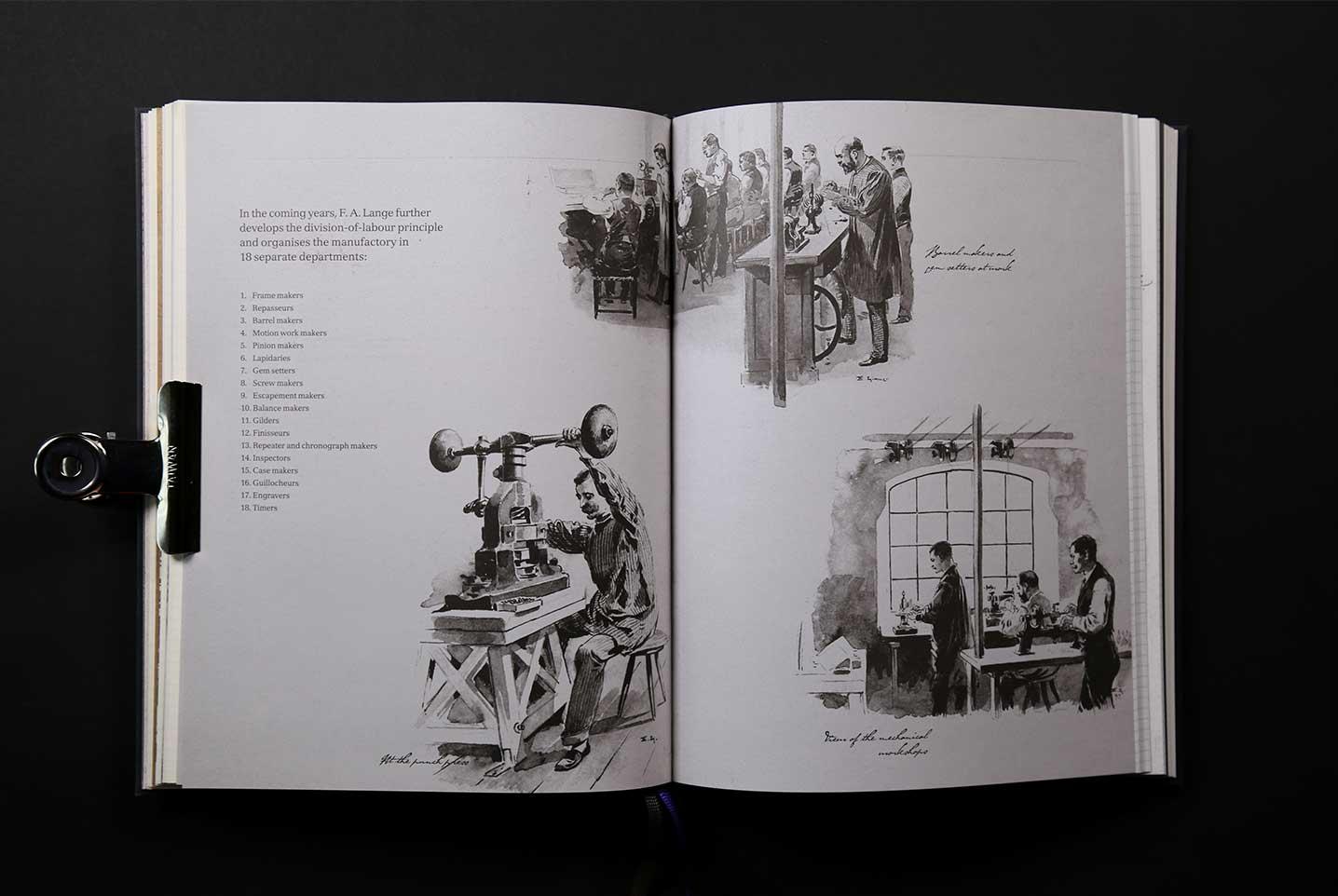 Lange & Söhne Innenseite Illustration