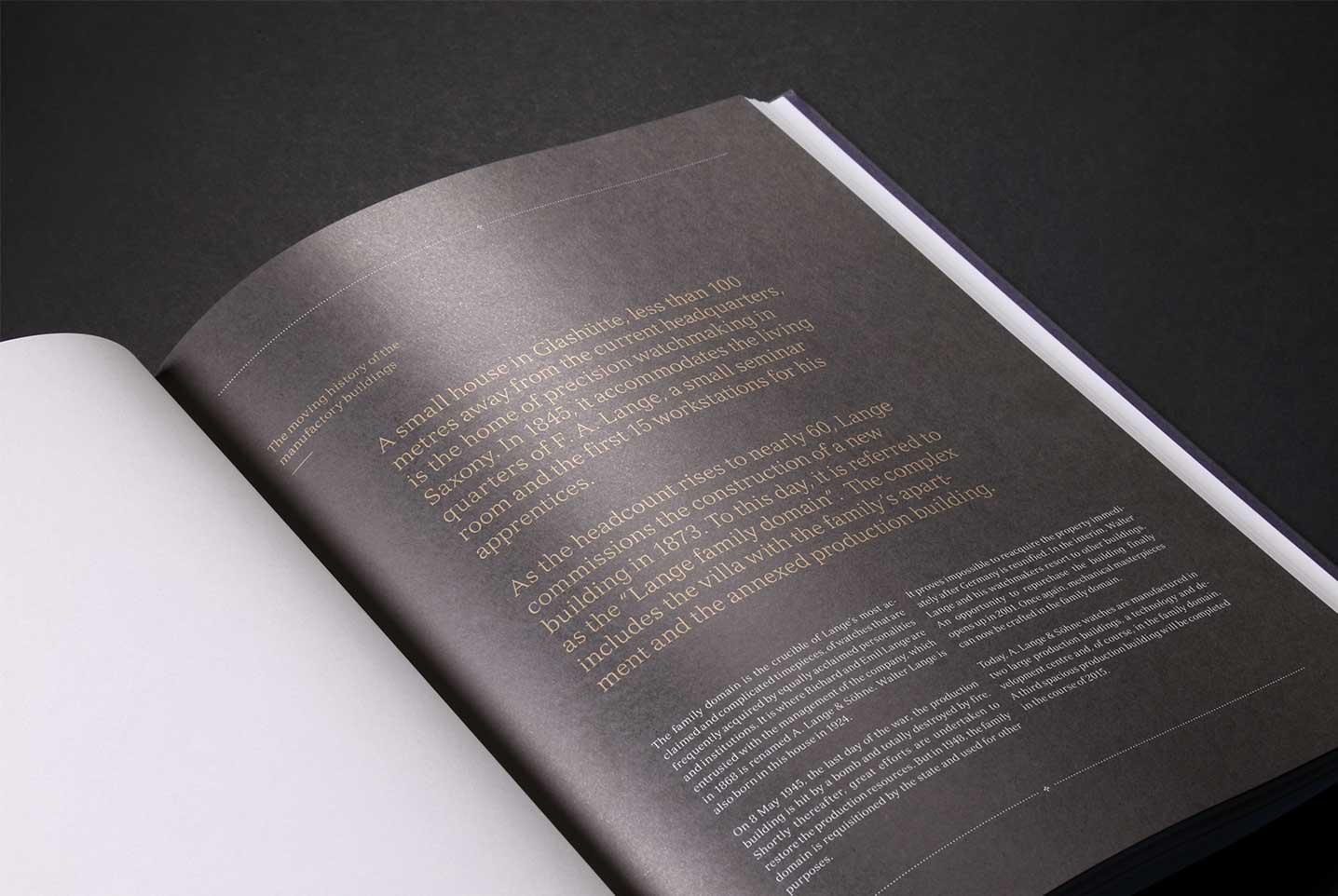 Lange & Söhne Innenseite Layout Text