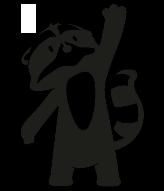 Character Loo der Waschbär