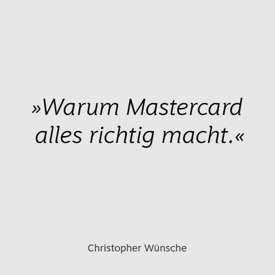 Mastercard-Auftritt