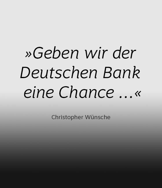 #PositiverBeitrag: Eine Chance für die Deutsche Bank