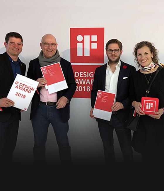 Ausgezeichnete Arbeit – zwei iF Awards 2018 für unser Team!