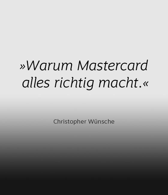 Kommentar zum neuen Mastercard-Auftritt