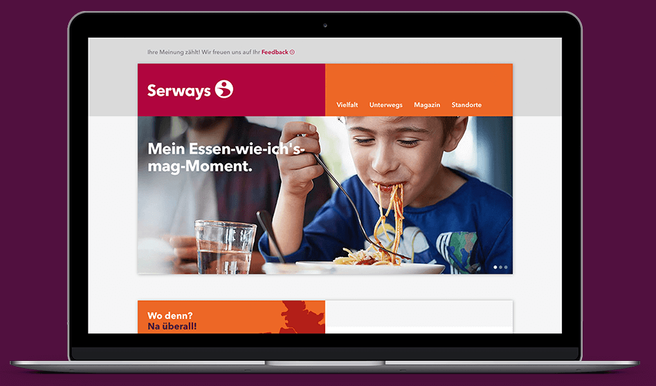 Serways Medien Website Desktop Ansicht