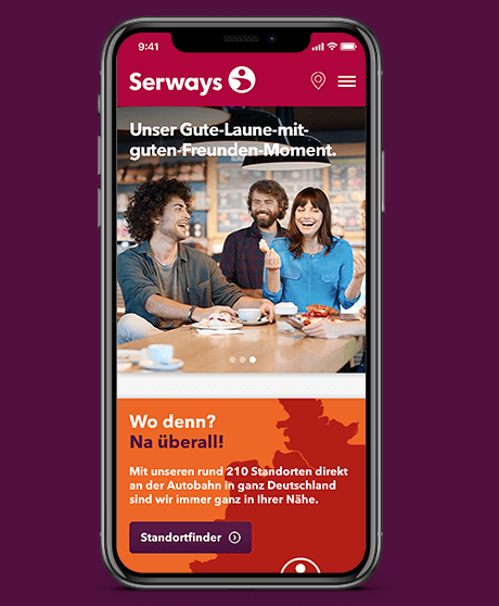 Serways Medien Website Mobile Ansicht