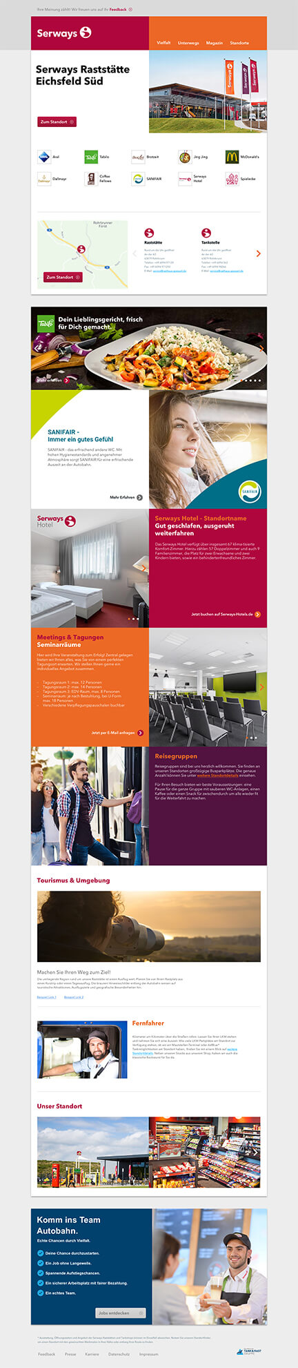 Serways Website Design Standort