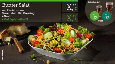 Tabilo Anzeigentafel Salat