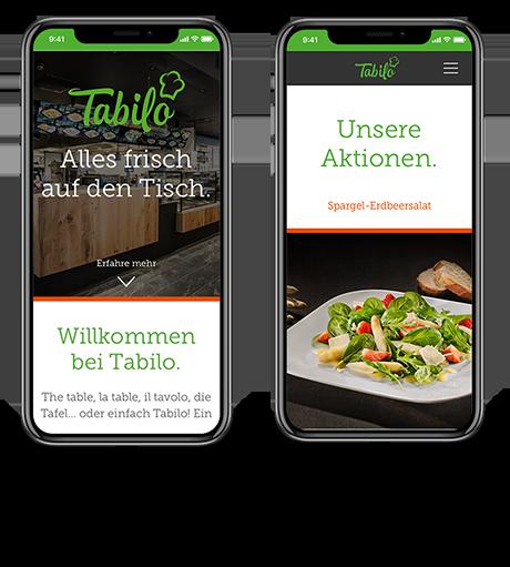 Tabilo Website, Smartphone