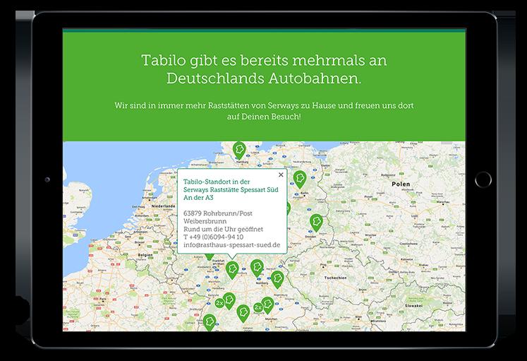 Tabilo Website, Tablet