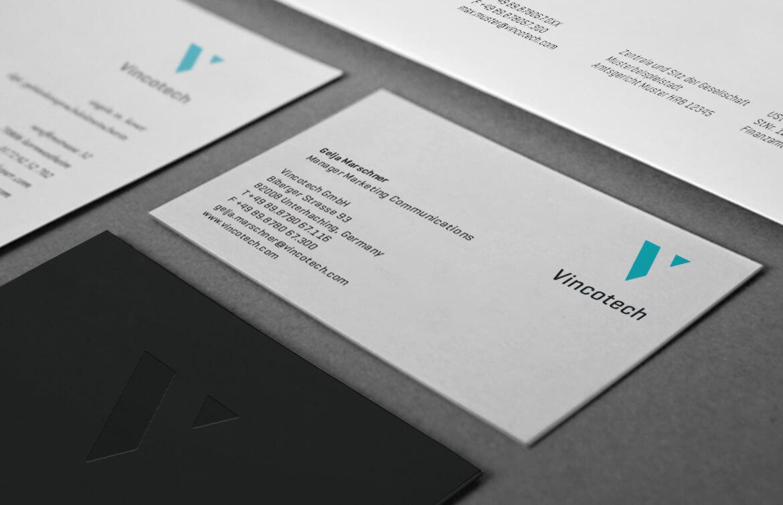 Vincotech Geschäftsausstattung Visitenkarte Detail